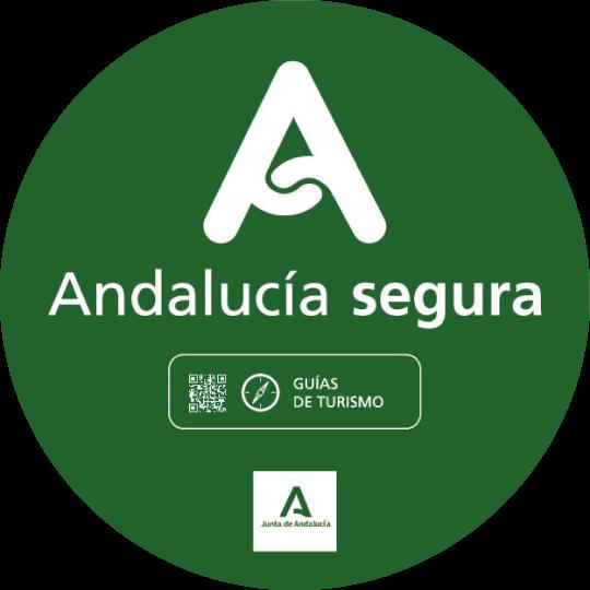 Sello Andalucía Segura para Guías Turísticos | 'Safe Andalusia' Guarantee for Tourist Guides | Sceau Andalucía Segura pour les Guides Touristiques